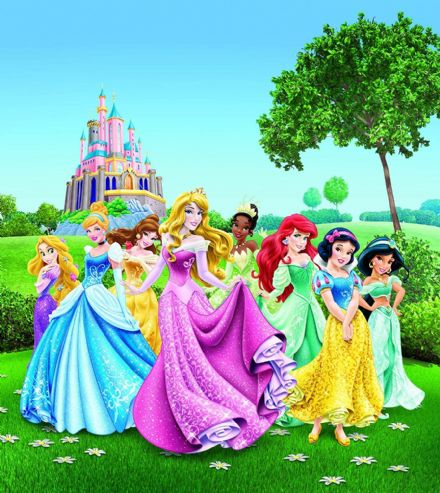 "Disney bedroom wallpaper ""Princess Lawn"""